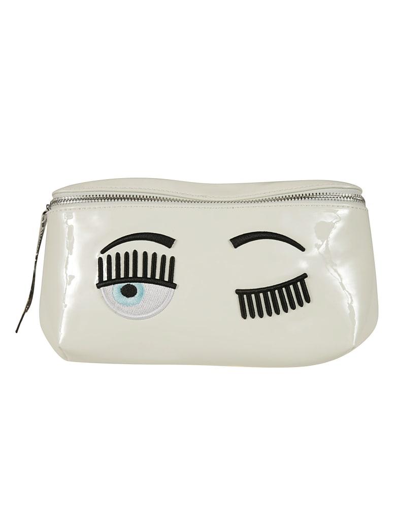 Chiara Ferragni Flirting Eye Belt Bag - white