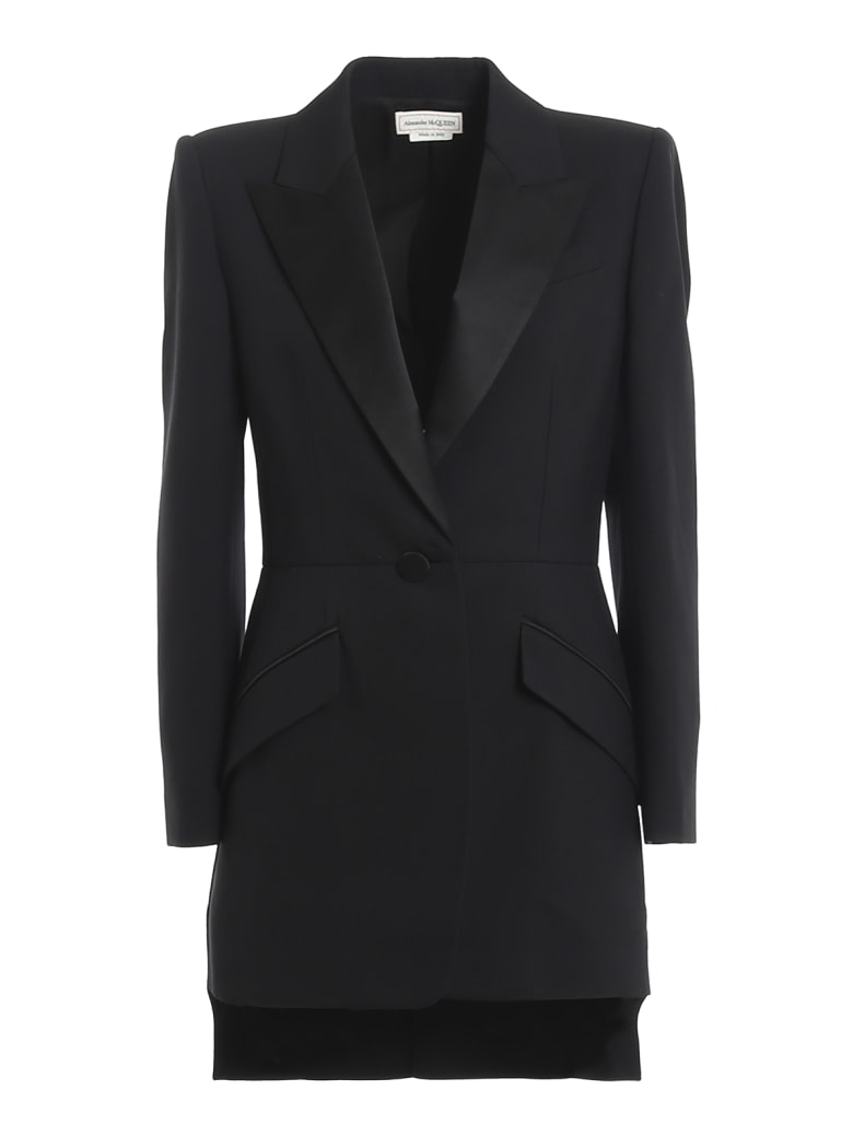Alexander McQueen Tale Coat - Black