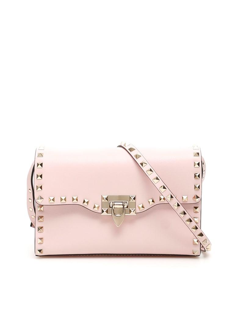 Valentino Garavani Small Rockstud Crossbody Bag - ROSE QUARTZ (Pink)