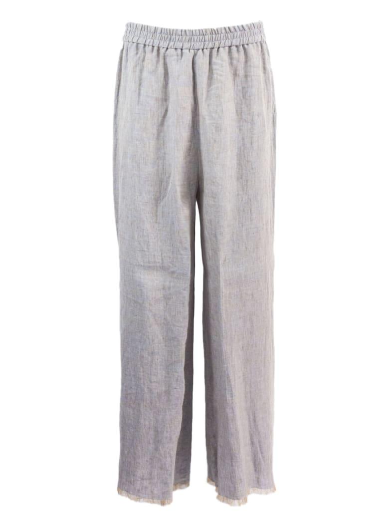 Fabiana Filippi Grey Cropped Trousers - Grigio
