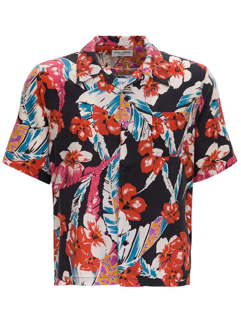 Saint Laurent Lyocell Multicolor Hawaiian Shirt - Multicolor
