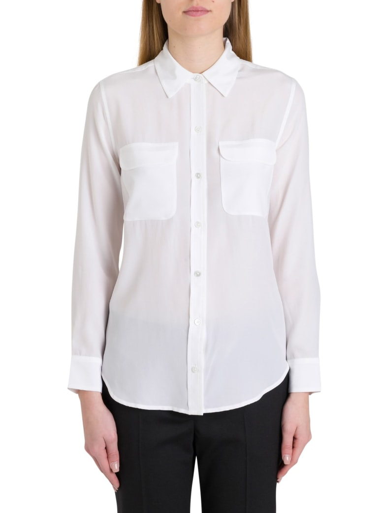 Equipment Silk Shirt - White