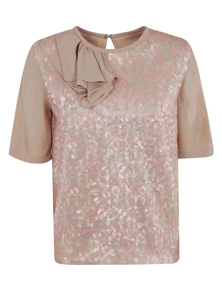 Antonio Marras Sequin Motif Top - Light Pink/Beige