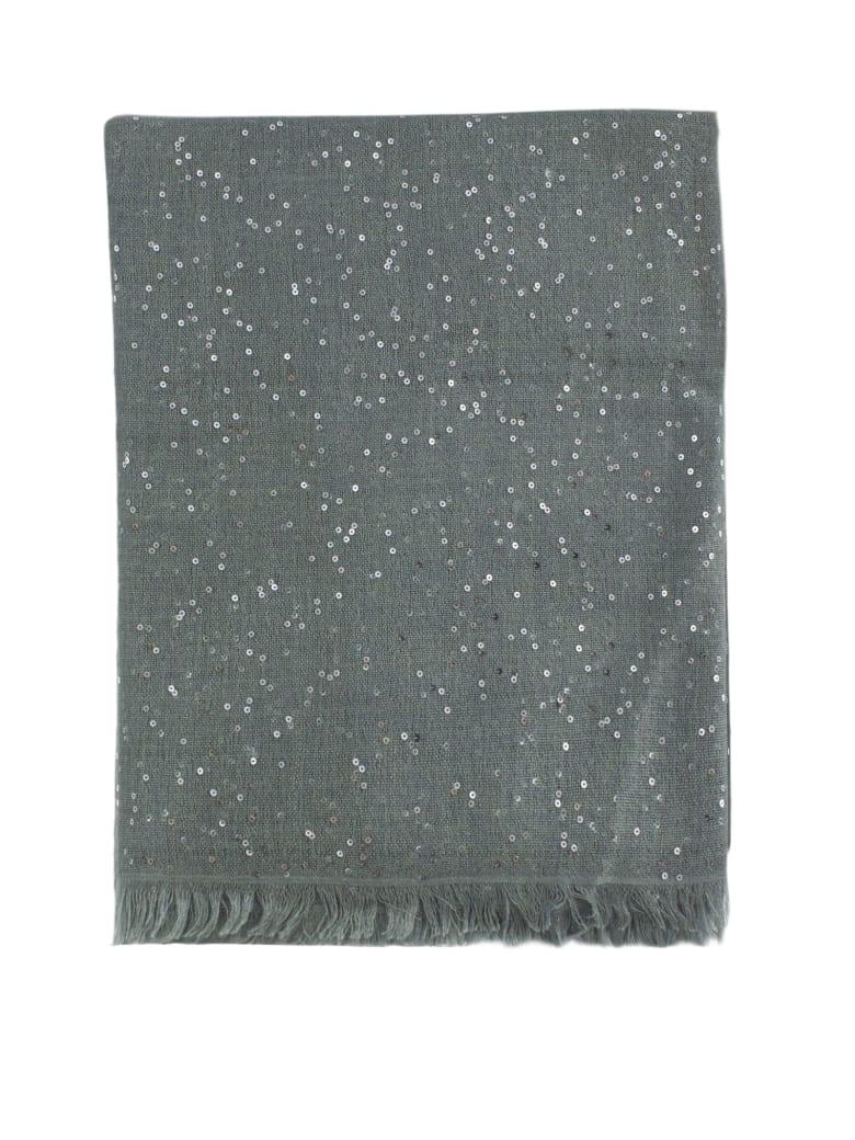 Brunello Cucinelli Cashmere And Silk Slate Scarf - Polvere