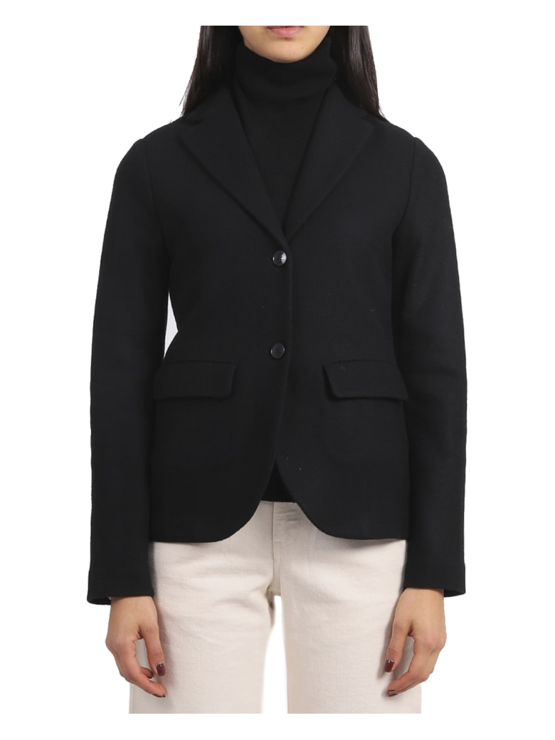 Barena Black Flora Rova Jacket - Black