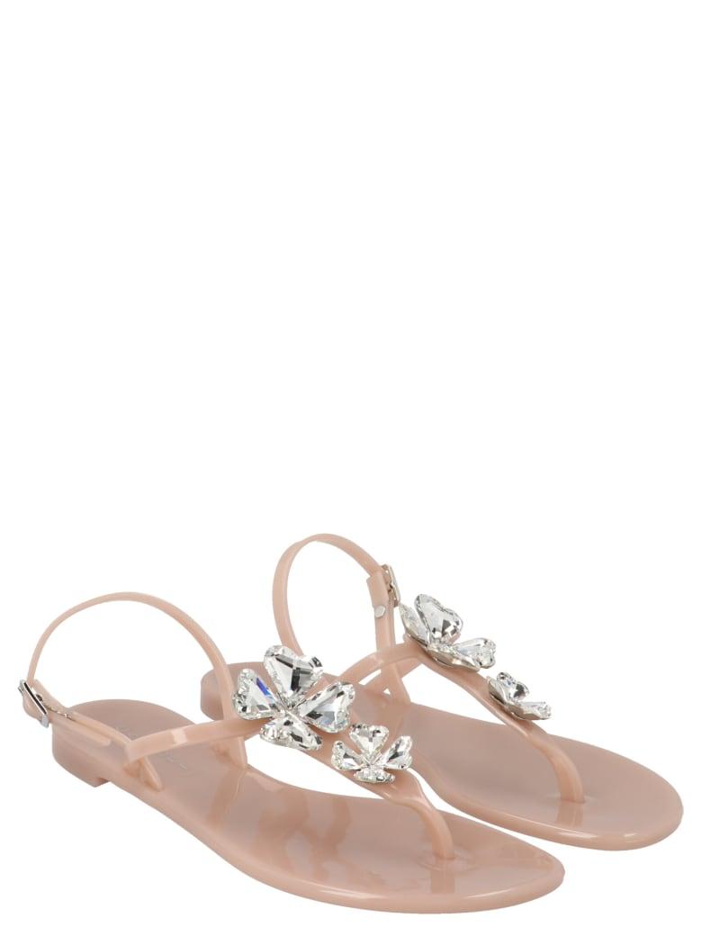 Casadei 'quadrifoglio' Shoes - Beige