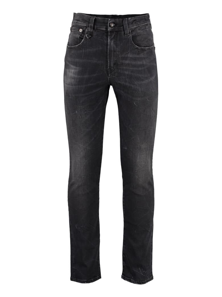 R13 Skate Slim Fit Jeans - black