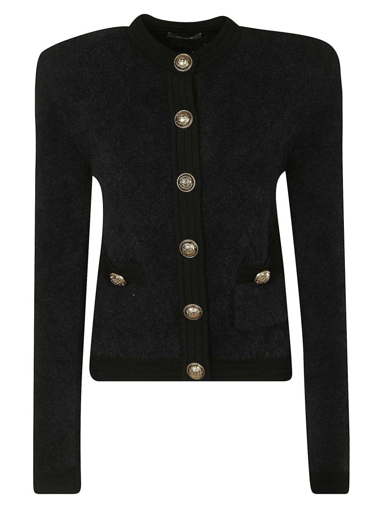 Balmain Cropped Buttoned Jacket - Black