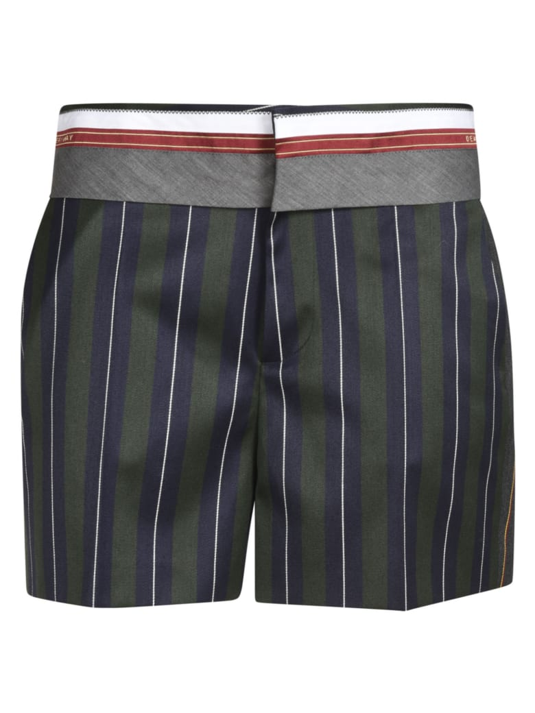 Dsquared2 Pinstripe Shorts - Green/Blue