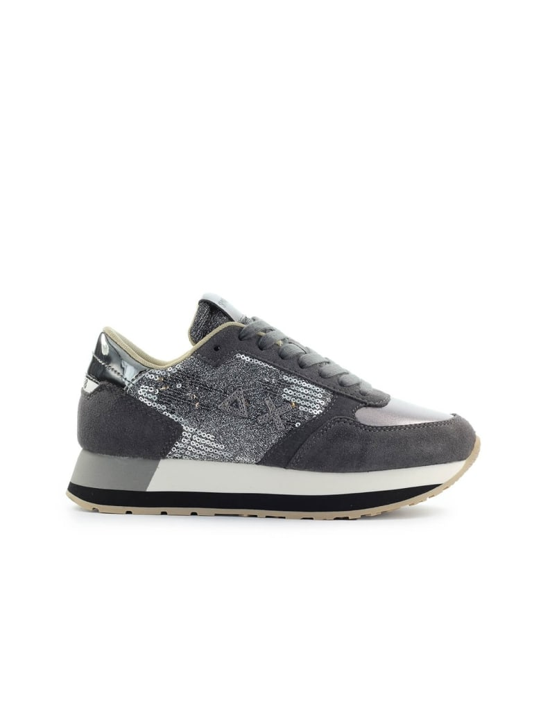 Sun 68 Sun68 Kate Velvet Paillettes Dark Grey Sneaker - Grigio (Grey)