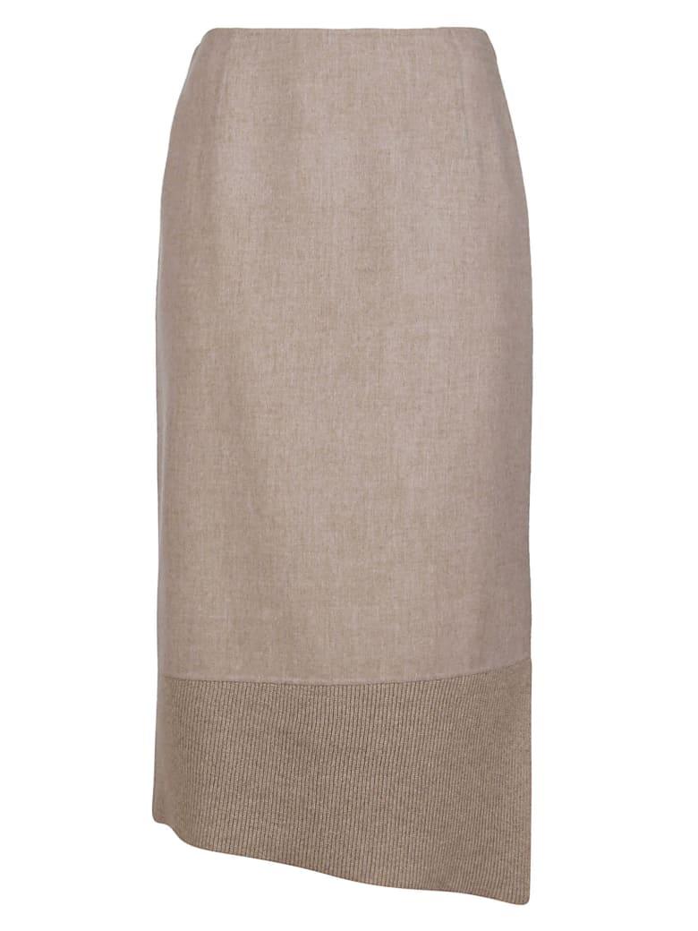 Agnona Beige Cashmere Skirt - Beige