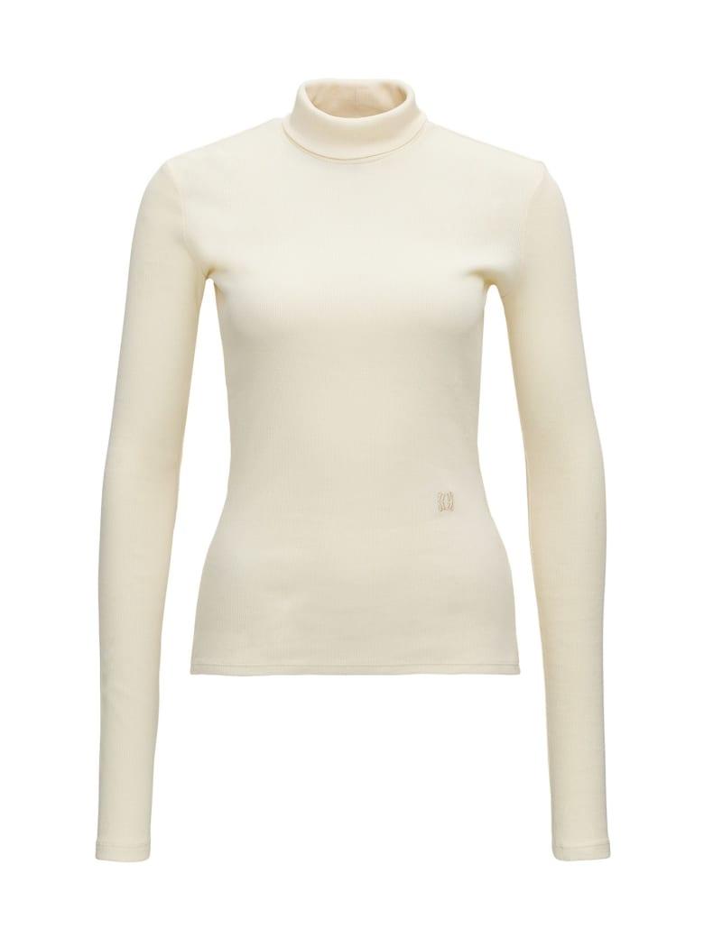 Nanushka Ribbed Turtleneck - White