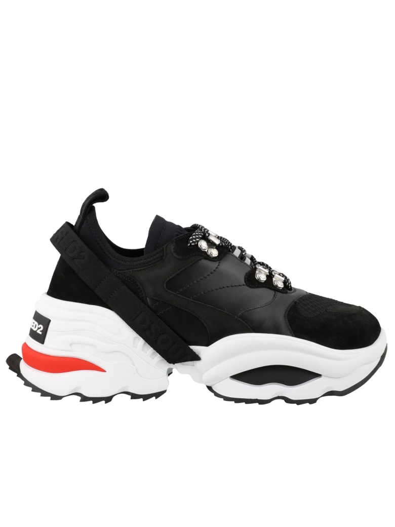 Dsquared2 Backyard Punk The Giant Sneakers - Black