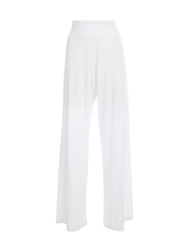 Stefano Mortari Knitted Track Pants - White