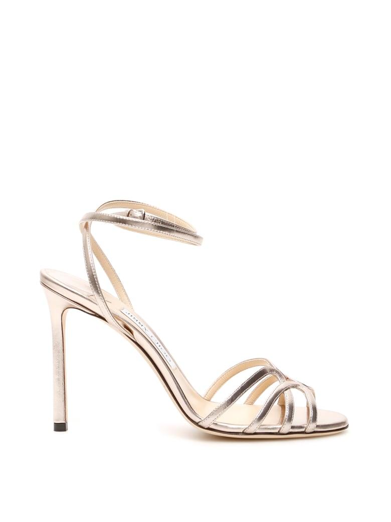 Jimmy Choo Mimi Sandals 100 - PLATINUM (Gold)