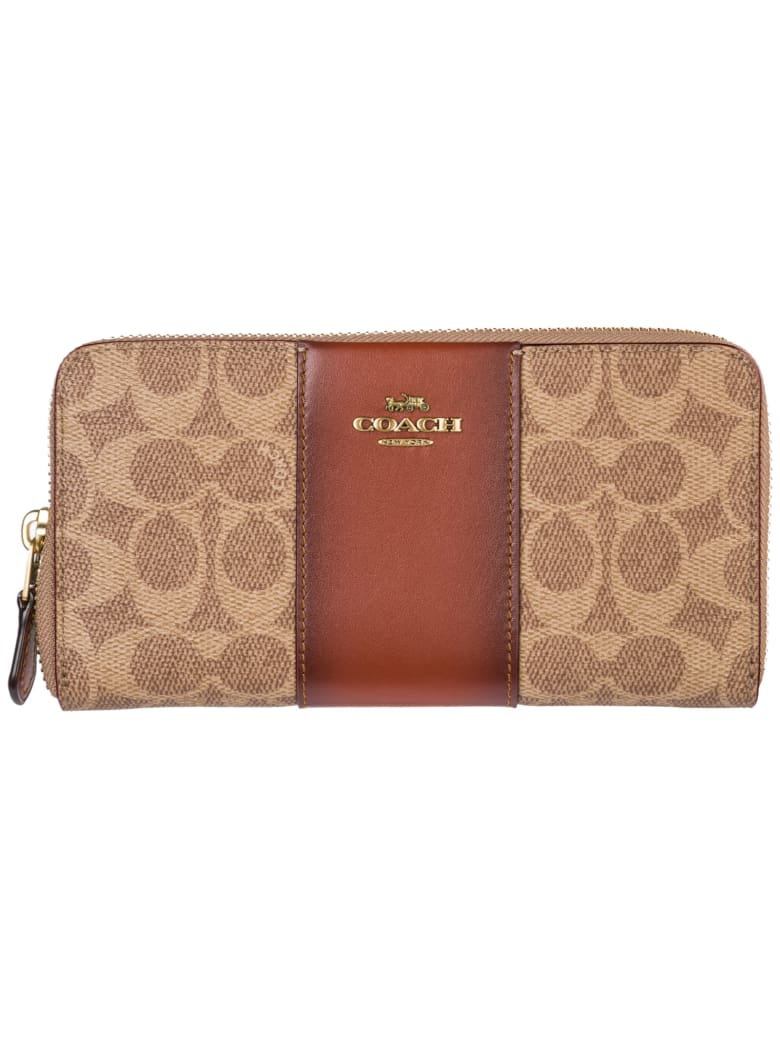 Coach Gazzette Wallet - Tan Rust