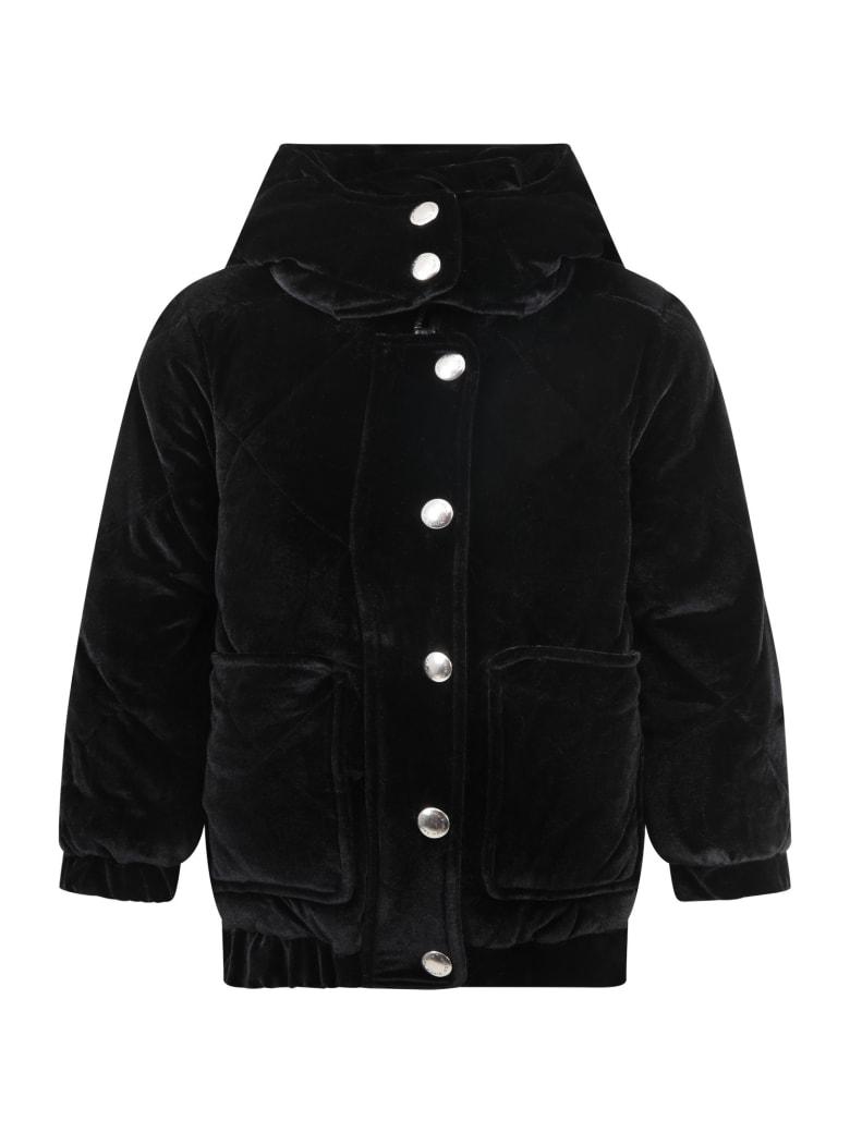 Sonia Rykiel Black Jacket For Girl With Logo - Black