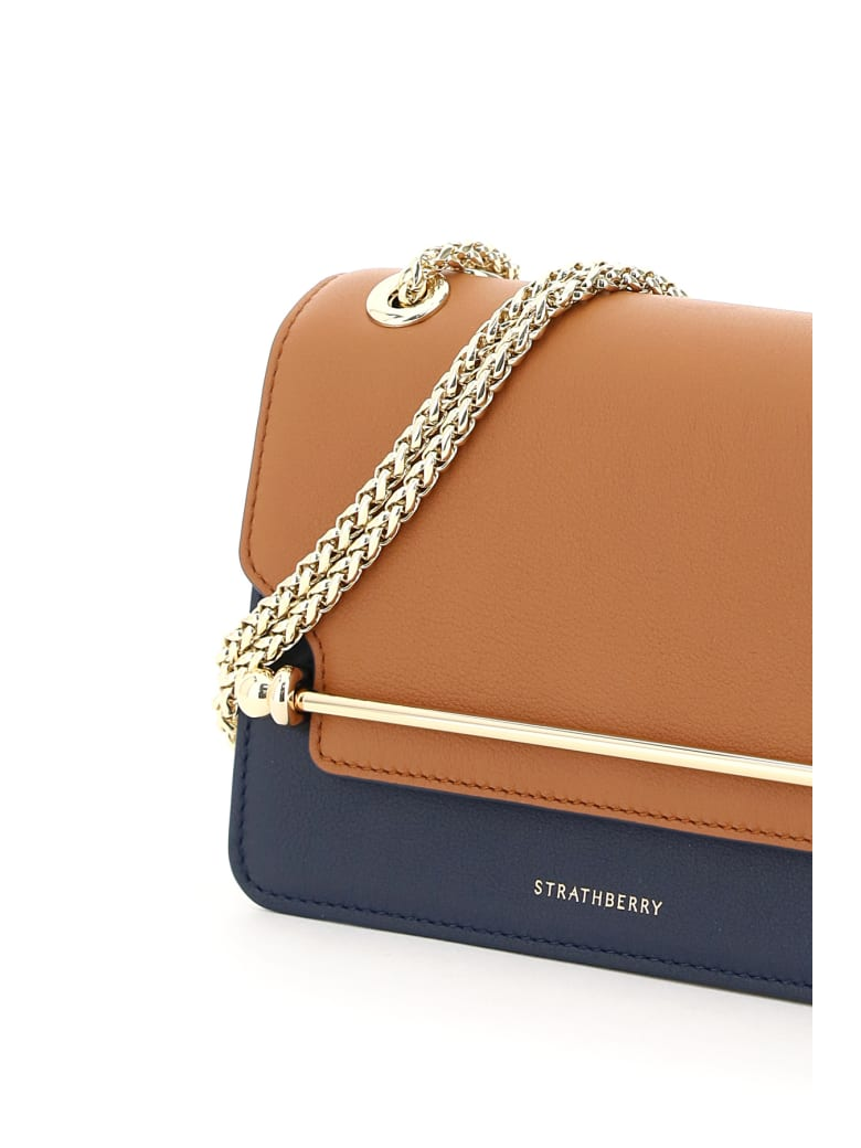 Strathberry Multicolor East/west Mini Bag - TAN NAVY VANILLA (Blue)