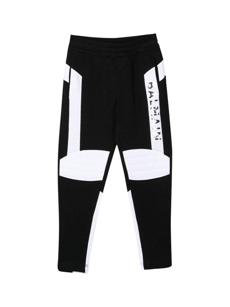 Balmain Kids Printed Sweatpants - Nero/bianco