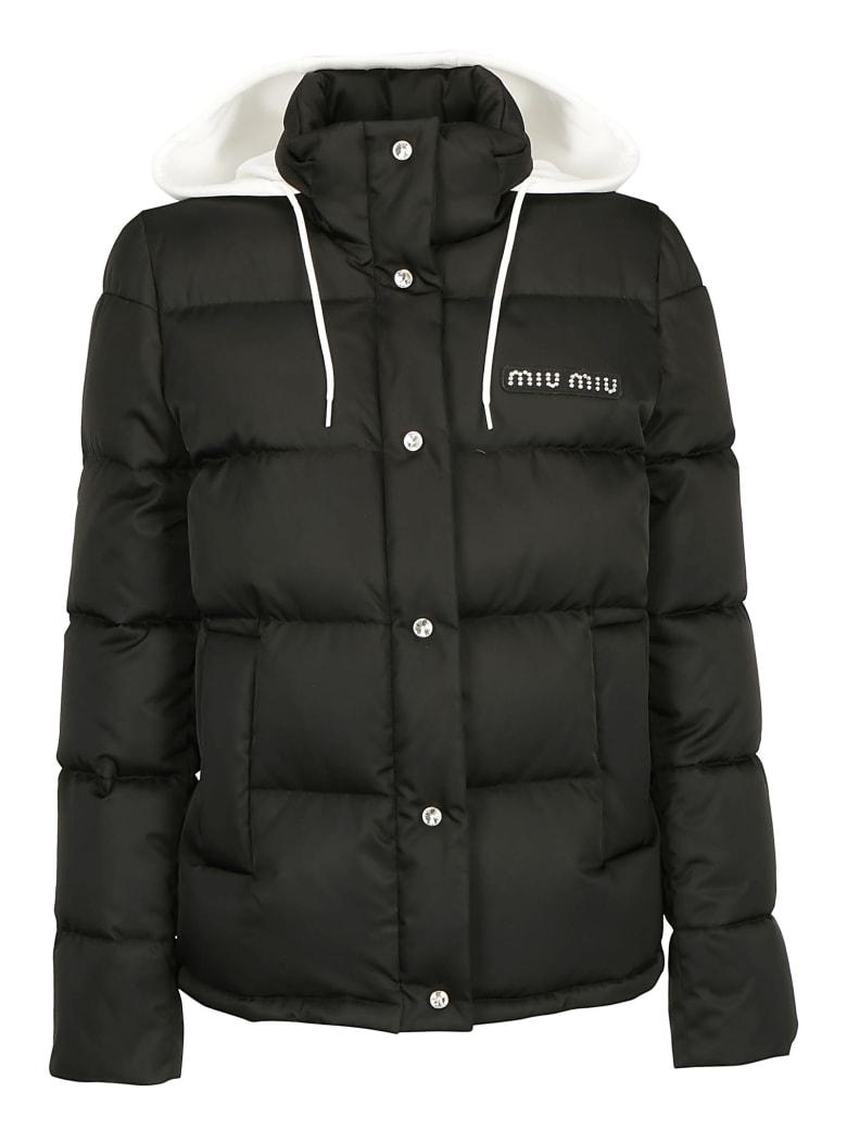 Miu Miu Blouson Down Jacket - Nero