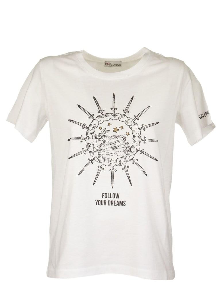 RED Valentino White T-shirt With Print - White