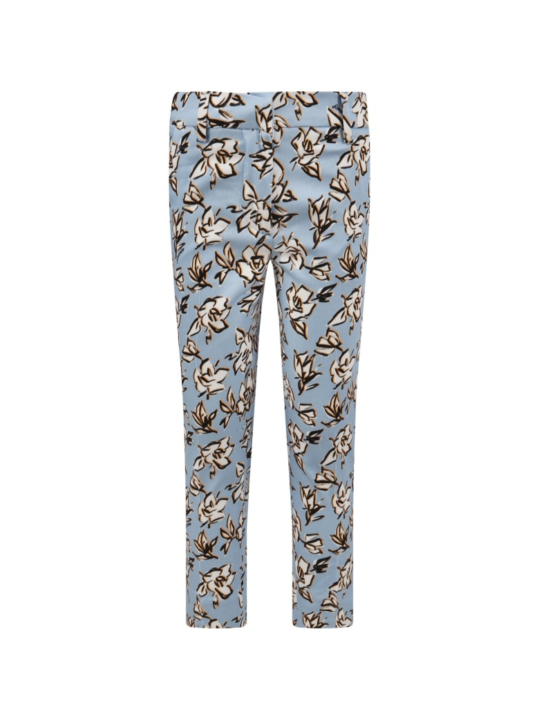 Simonetta Light Blue Pants For Girl - Light Blue