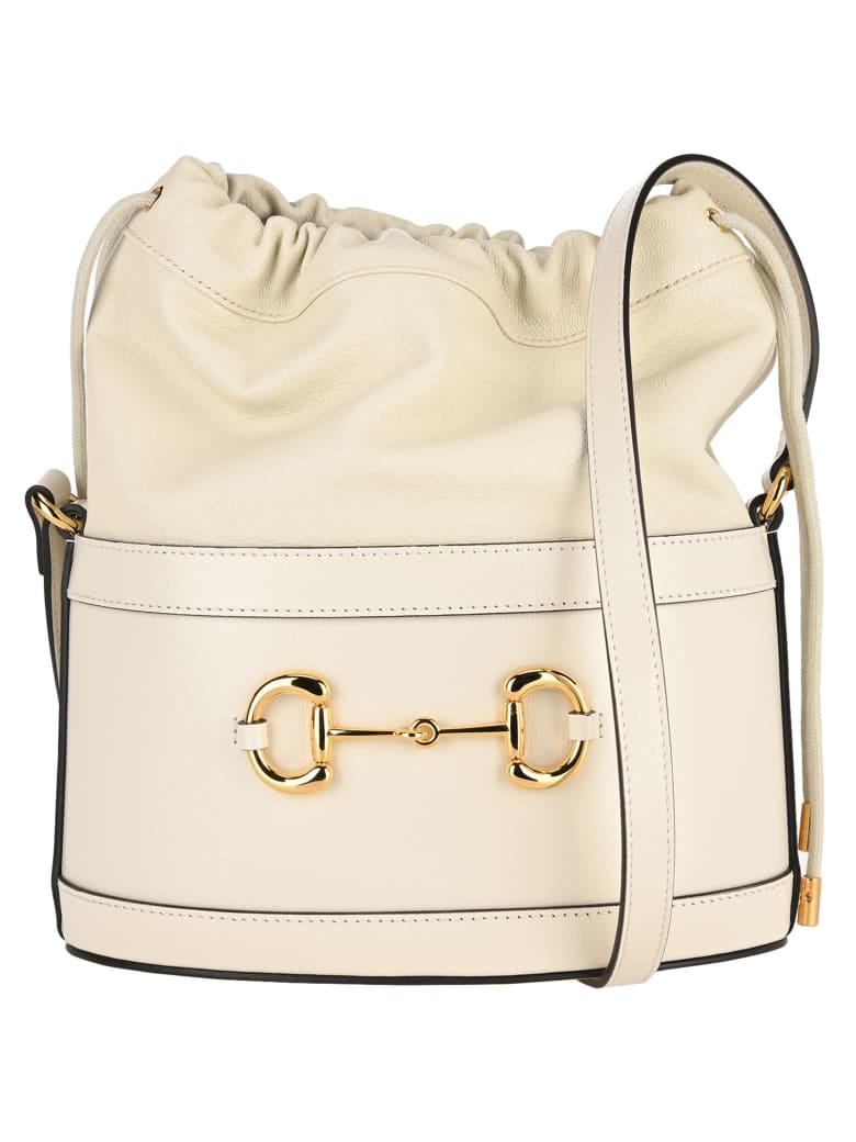 Gucci Gucci 1955 Horsebit Bucket Bag - WHITE