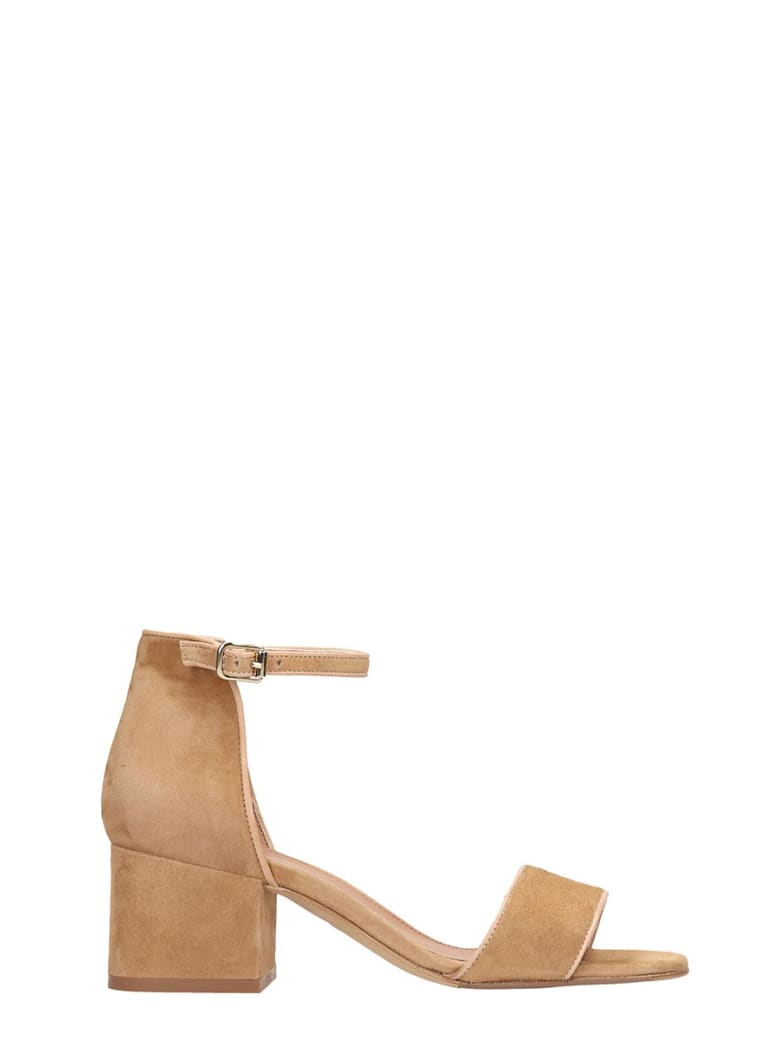 Julie Dee Beige Suede Sandals - leather color