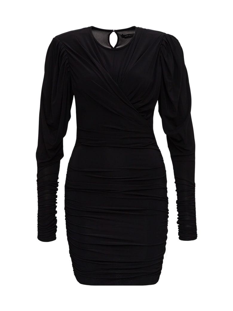 Isabel Marant Ghita Jersey Dress - Black