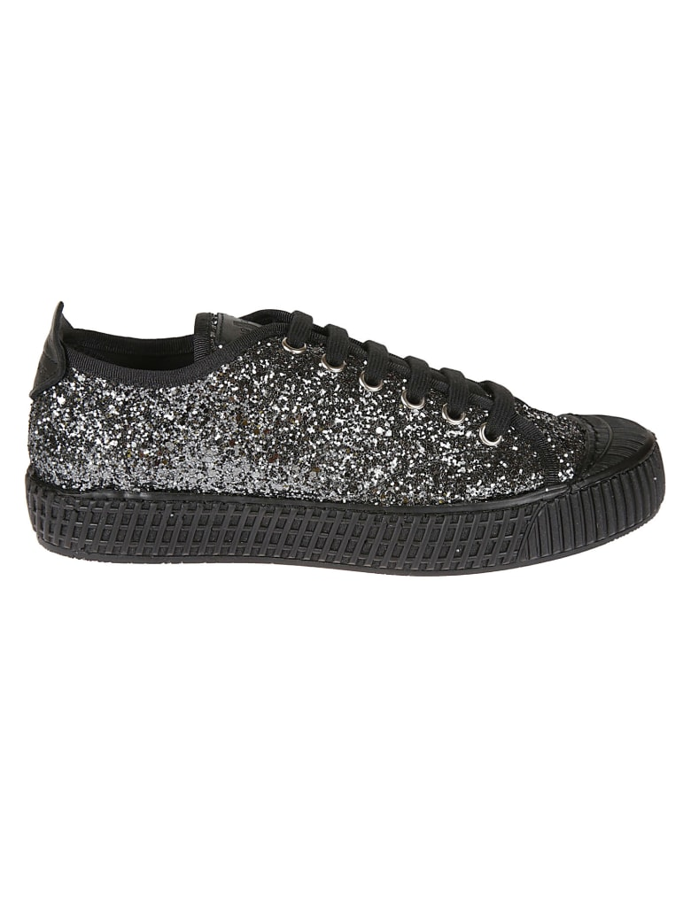 Car Shoe Glittery Low-up Laced Sneakers - Slate