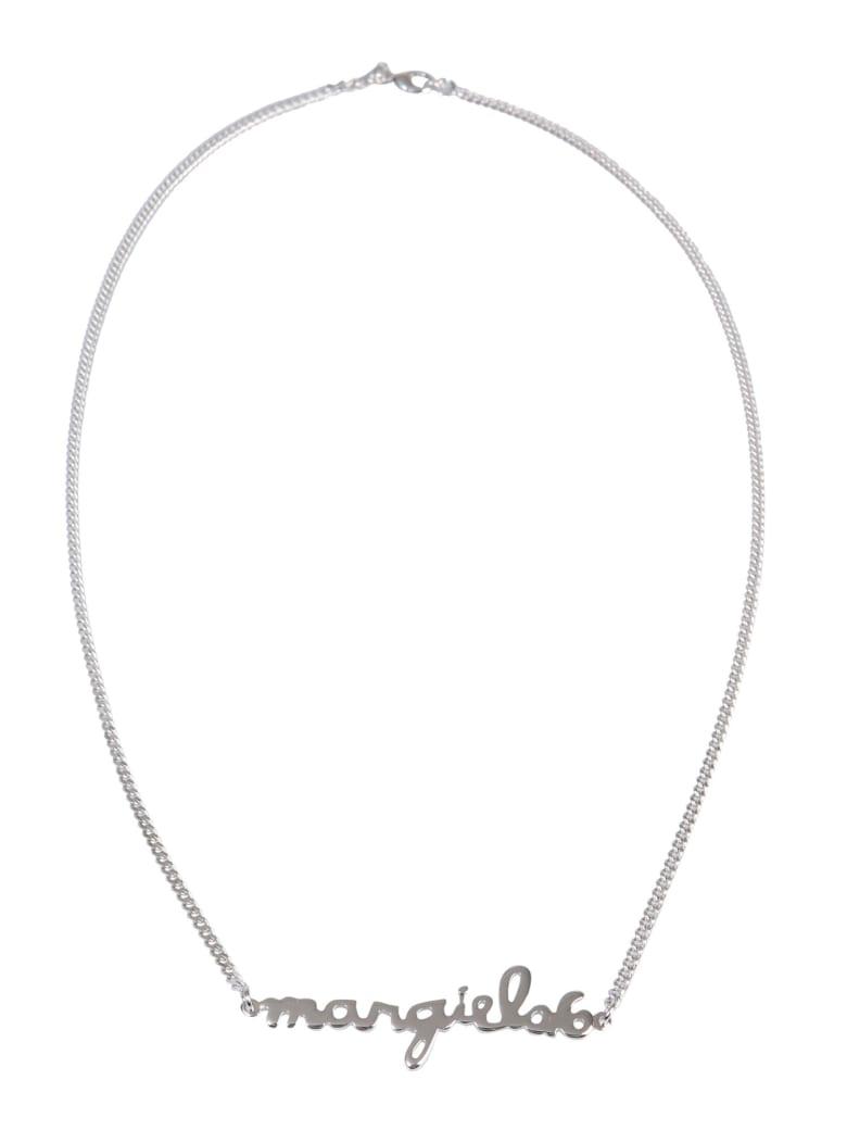 MM6 Maison Margiela Necklace With Lettering Logo - ARGENTO