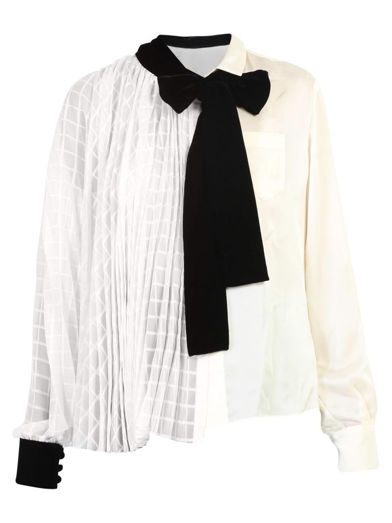 Sacai Pleated Blouse - White