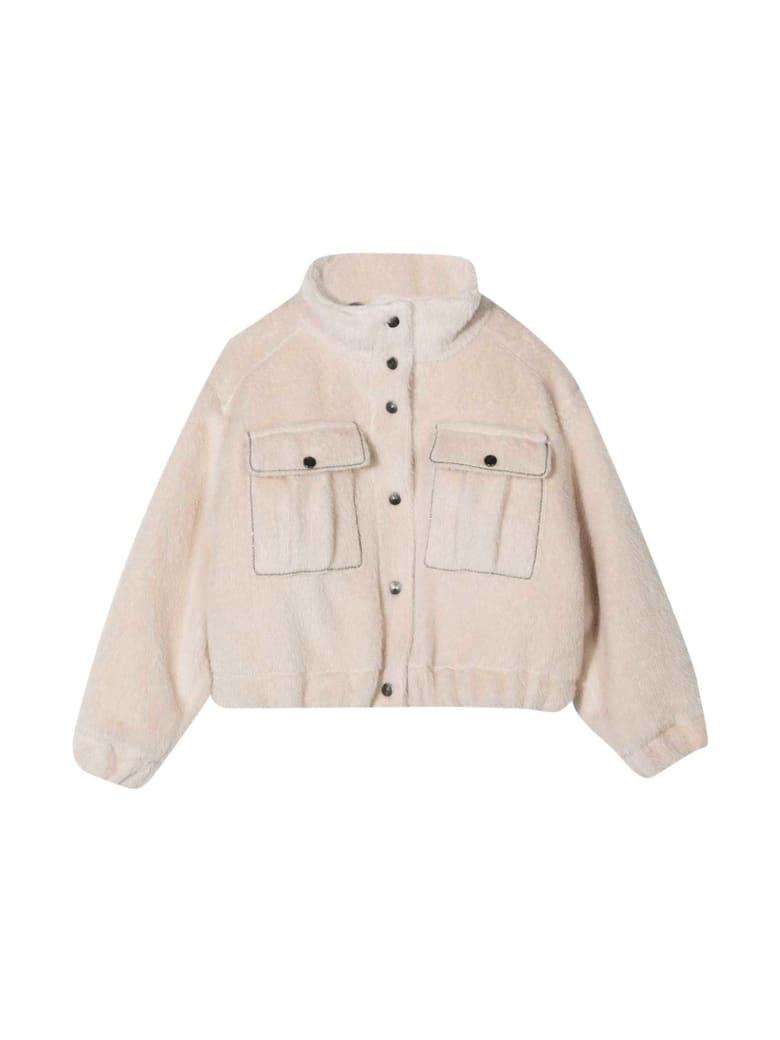 Brunello Cucinelli Wool Bomber Jacket - Bianca