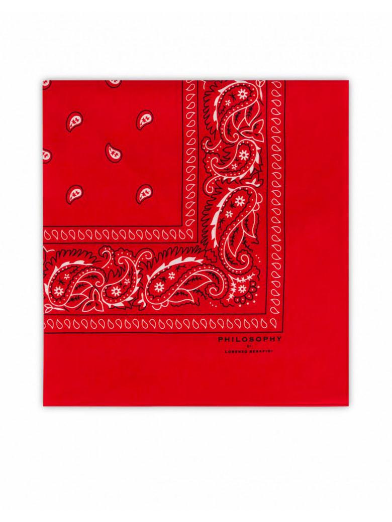 Philosophy di Lorenzo Serafini Red Cotton Bandana - Rosso
