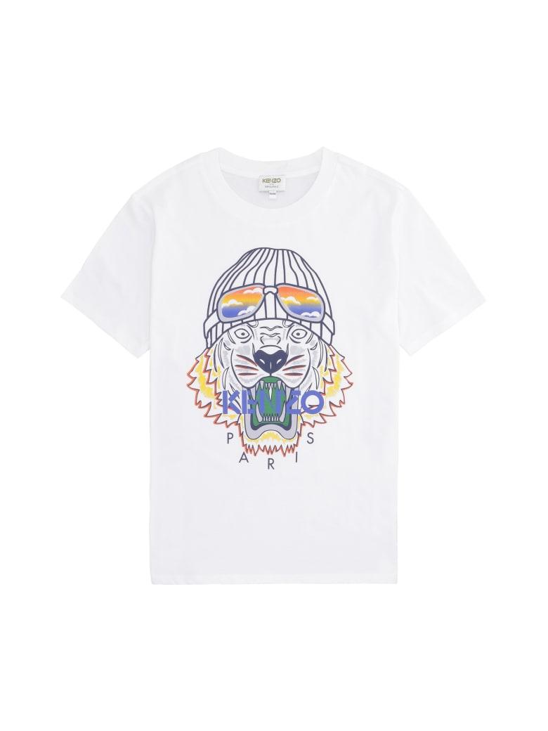 Kenzo Kids Printed Cotton T-shirt - White