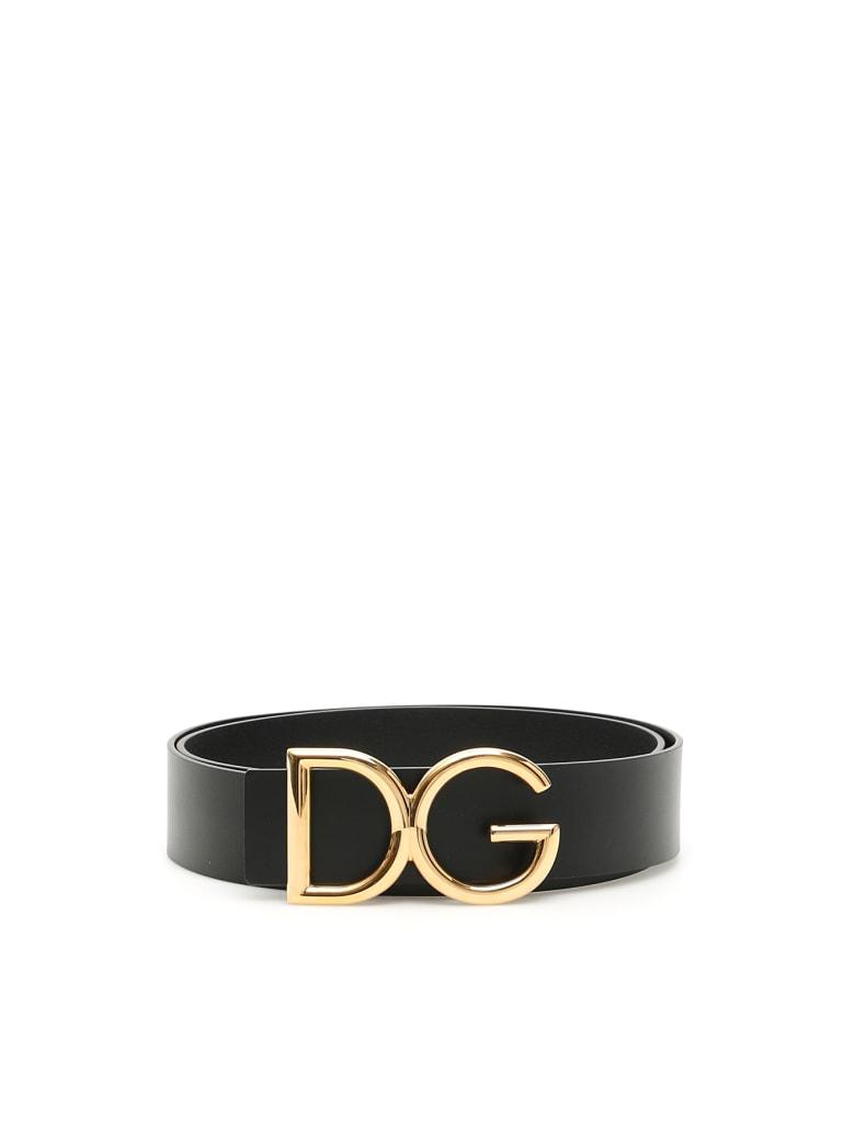 Dolce & Gabbana Dg Belt - NERO ORO VINTAGE (Black)