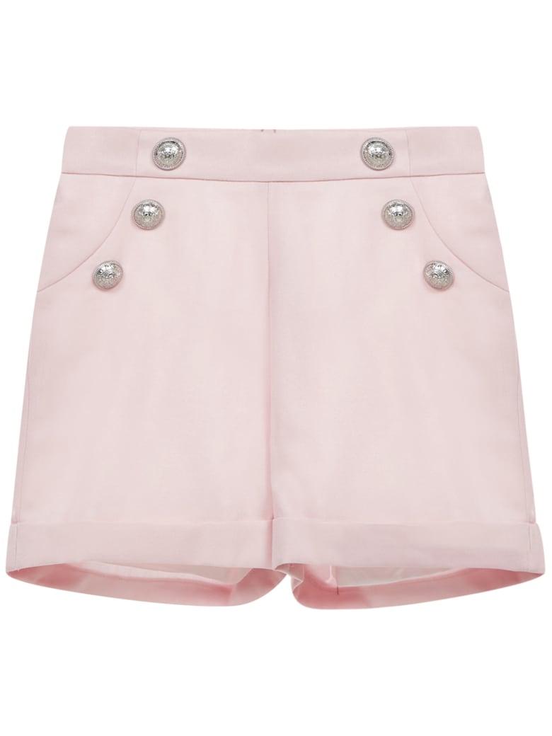 Balmain Paris Kids Shorts - Pink