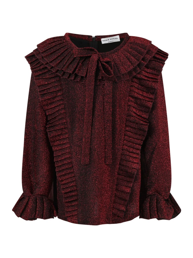 Sonia Rykiel Red T-shirt For Girl With Bow - Red