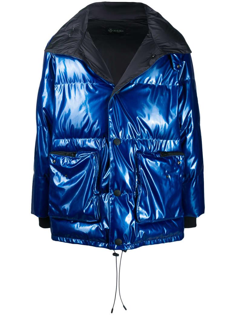 Mr & Mrs Italy Overfit Unisex Down Jacket - LAGOON / BLACK