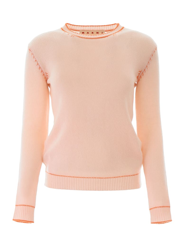 Marni Pull With Embroidered Logo - LIGHT PINK (Pink)