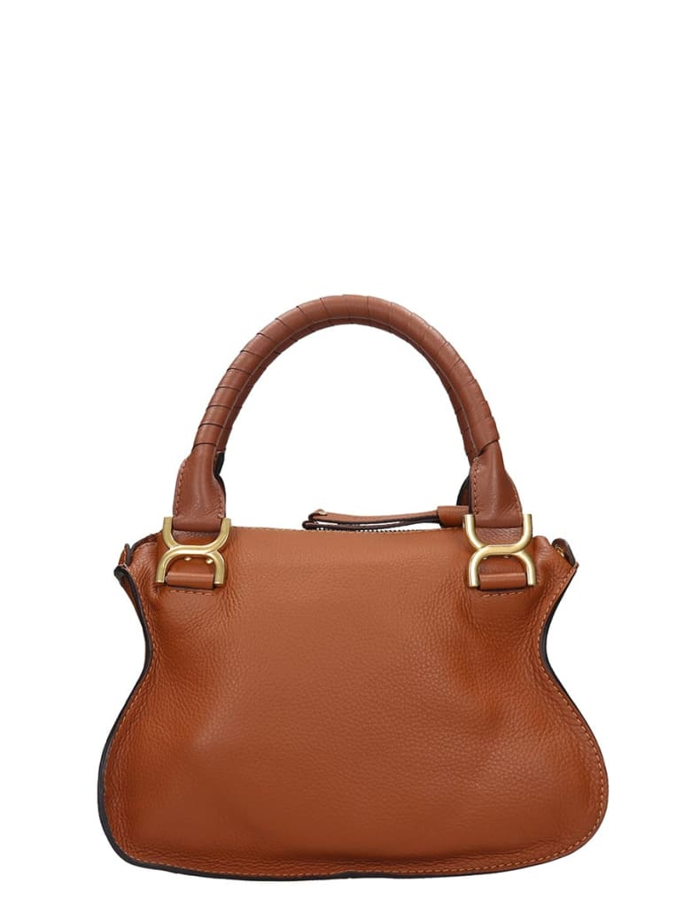 Chloé Mercie Small Hand Bag In Leather Color Leather - Marrone