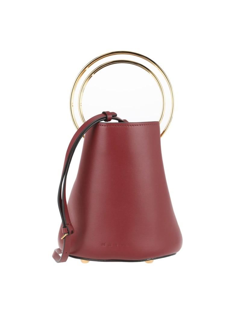 Marni Satchel Tote Bag - BORDEAUX