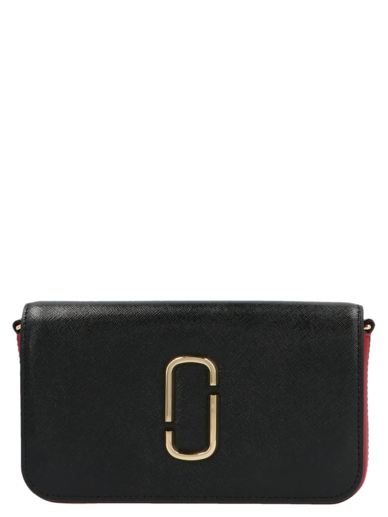 Marc Jacobs 'the Snapshot Wallet On Chain' Bag - Nero