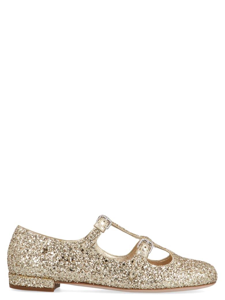 Miu Miu 'baby' Shoes - Gold