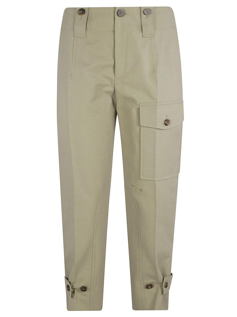 Chloé Left Cargo Pocket Trousers - Slate Green
