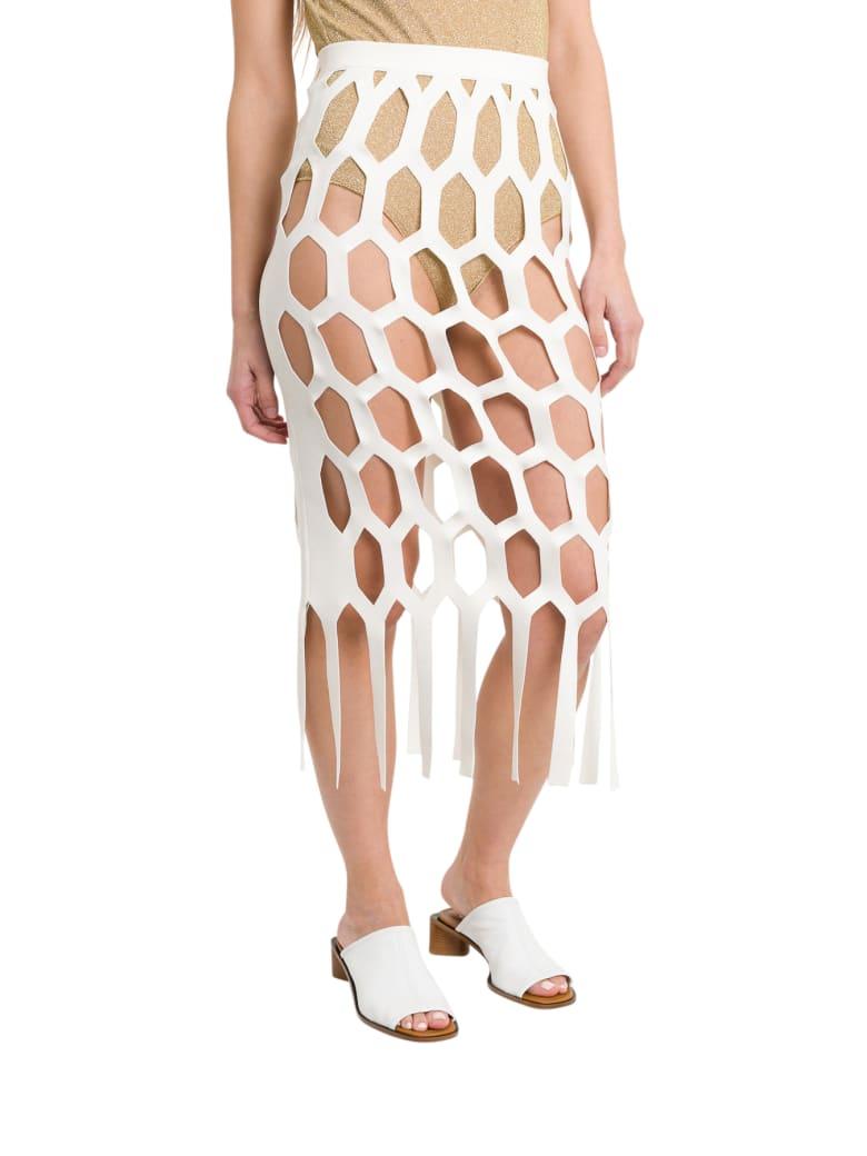 Sonia Rykiel Honeycomb Midi Skirt - Bianco