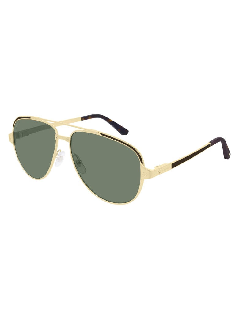 Cartier Eyewear CT0192S Sunglasses - Gold Gold Green