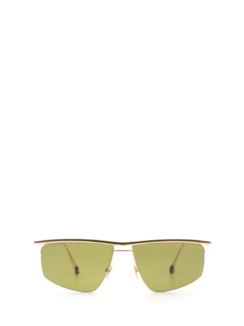 AHLEM Ahlem Place Des Pyrenees Champagne/green Sunglasses - CHAMPAGNE/GREEN