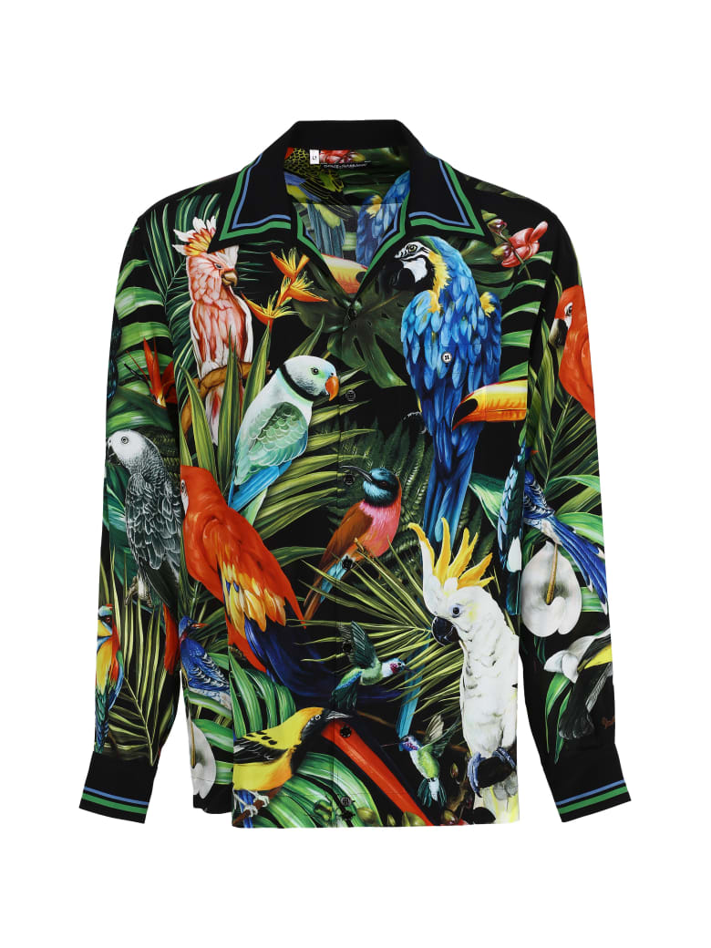 Dolce & Gabbana Crêpe-silk Shirt - Multicolor