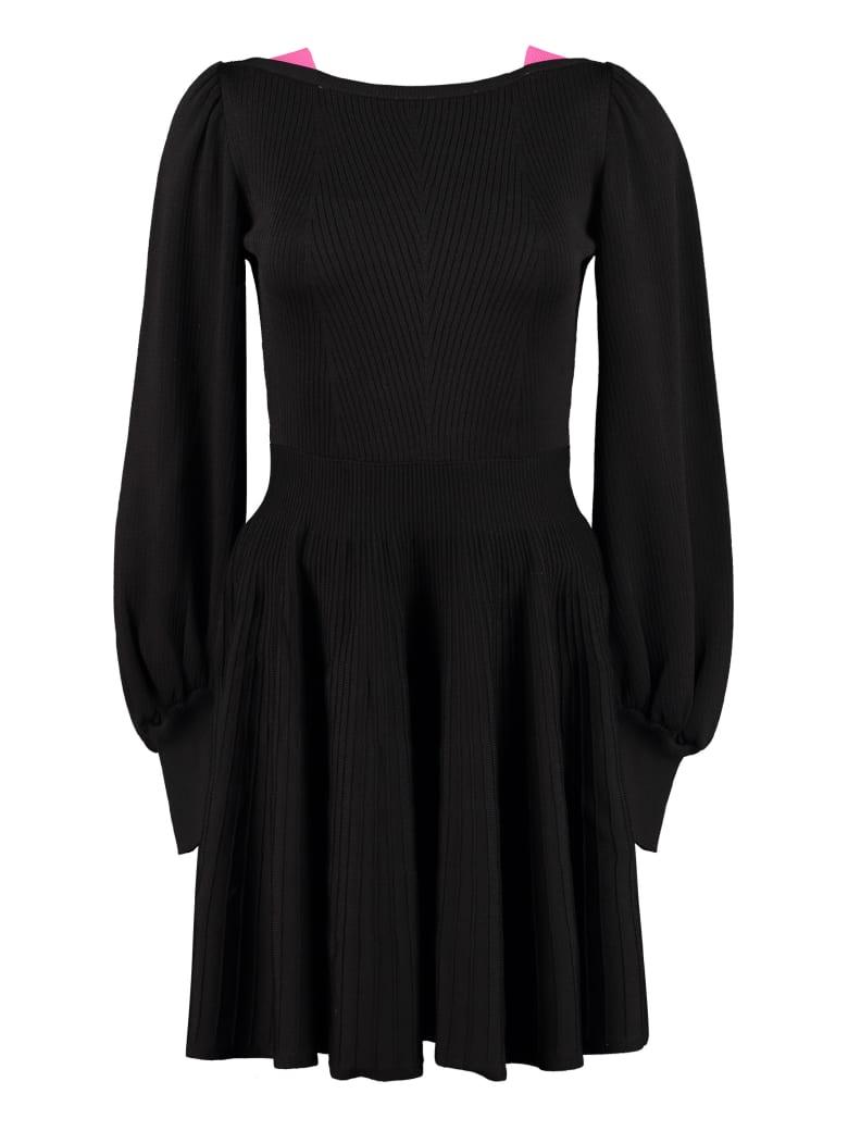 MSGM Knitted Mini-dress - black